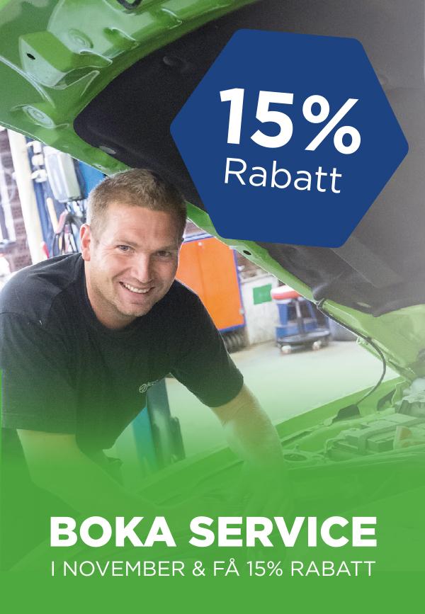 15 % på bilservice Atracco Växjö